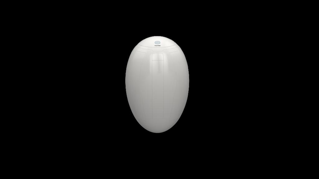 The PowerEgg drone in storage mode