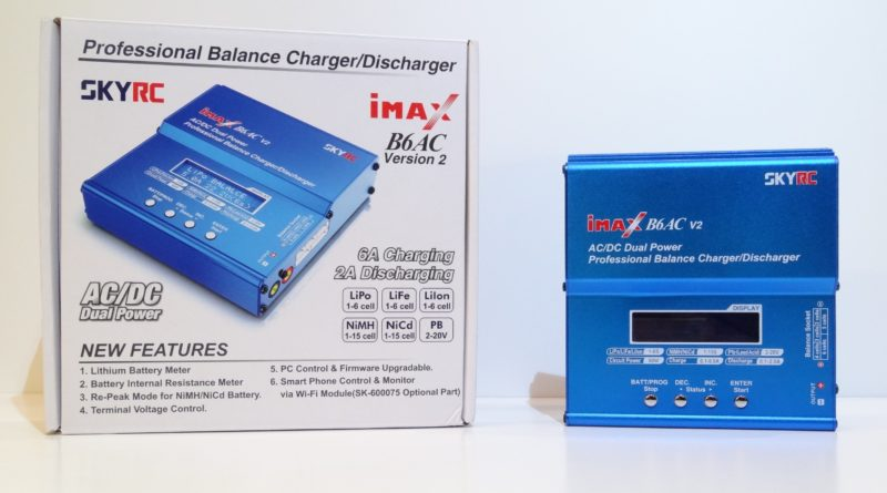 the iMAX B6AC LiPo charger box and charger unit