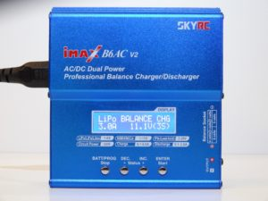 the best LiPo charger, iMAX B6AC powered on
