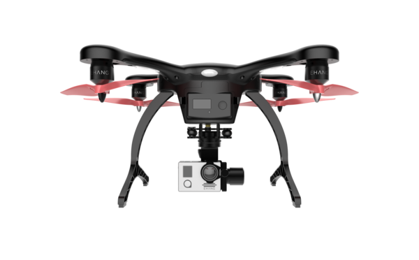 the ehang ghostdrone 2.0, in black