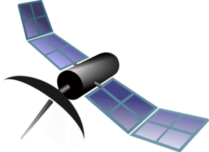 an icon of a gps satellite