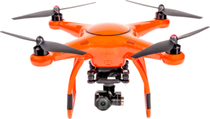 autel robotics x-star premium drone, in orange