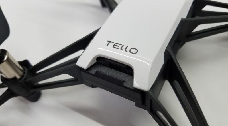 featured image for ryze tello drone review, a closeup shot of the tello