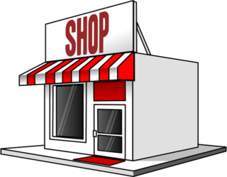 a graphic of a traditional store